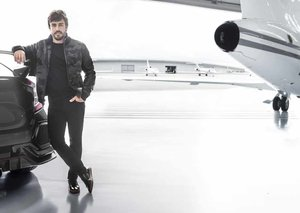 Fernando Alonso and Michael Kors: keeping style on track
